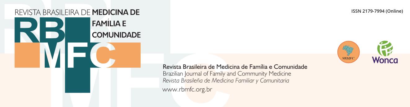 Logo of Revista Brasileira de Medicina de Família e Comunidade